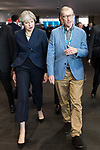 © Joel Goodman - 07973 332324 . 02/10/2017. Manchester, UK. THERSA MAY and PHILIP MAY leave the conference hall after Philip Hammond's speech , during the second day of the Conservative Party Conference at the Manchester Central Convention Centre . Photo credit : Joel Goodman