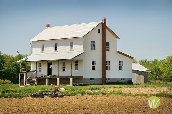 Firestone Road, Huron County, Ohio. Amish farmhouse.