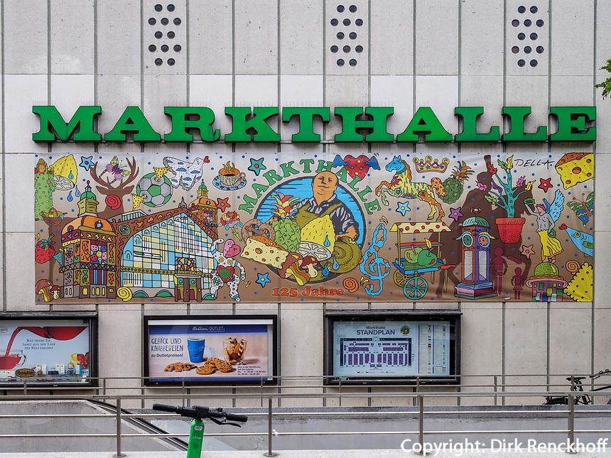 Fassade der Markthalle, Karmarschstr. 49, Hannover, Niedersachsen, Deutschland, Europa<br /> Facade of covered market, Karmarsch St. 49, Hanover, Lower Saxony, Germany, Europe