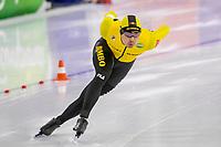 26th December 2020; Thialf Ice Stadium, Heerenveen, Netherlands;  World Championships Qualification Tournament WKKT. 1500m men, Kai Verbij during the WKKT 26-12-2020 WKKT