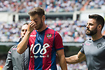 Ivan Lopez Mendoza of Levante UD gets an injury during the La Liga match between Real Madrid and Levante UD at the Estadio Santiago Bernabeu on 09 September 2017 in Madrid, Spain. Photo by Diego Gonzalez / Power Sport Images