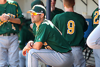 North Dakota State Bisons Nic Obey #10 during a game vs Bradley Braves at Chain of Lakes Park in Winter Haven, Florida;  March 17, 2011.  Bradley defeated North Dakota State 6-5.  Photo By Mike Janes/Four Seam Images