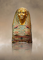 Ancient Egyptian mummy mask of Pasyg. 1st century BC. Neues Museum Berlin AM 34436.