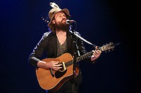 Father John Misty performs during a concert at the Festival d'ete de Quebec in Quebec City Thursday July 10, 2014.
