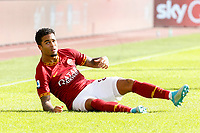Roma' Justin Kluivert sits on the pitch during the Serie A soccer match between Roma and Cagliari at Rome's Olympic Stadium, October 6, 2019. UPDATE IMAGES PRESS/ Riccardo De Luca