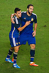 Gonzalo Higuain and Nicolas Gaitan of Argentina in action during the HKFA Centennial Celebration Match between Hong Kong vs Argentina at the Hong Kong Stadium on 14th October 2014 in Hong Kong, China. Photo by Chung Yan / Power Sport Images