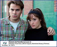 Sebastien Huberdeau et Benedicte Decary<br /> dans  Histoire de Famille<br /> <br /> Editorial Only - for media use only<br /> Pour usage media (editorial)  Uniquement<br /> <br /> (c) Tele Quebec