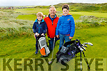 Ewan, Paddy and Daniel Dee from Tullamore Ballybunion enjoying a game of golf at the Ballybunion Golf Club on Saturday.