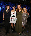 Kathy Valentine, Jane Wiedlin, Rachel York and Charlotte Caffey during the Broadway Opening Night Performance Actors' Equity Legacy Robe honoring Justin Prescott at the Hudson Theatre on July 26, 2018 in New York City.