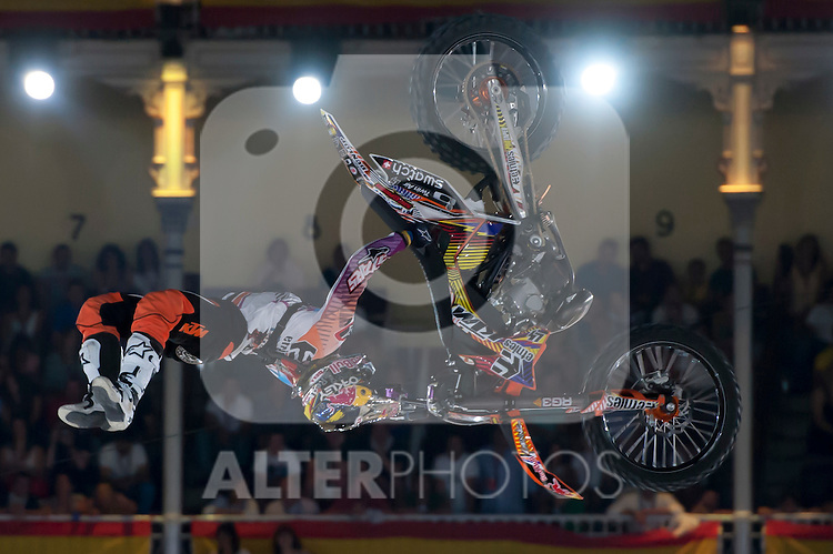 Red Bull X-Fighters 2012. Madrid. Rider In the picture Levi Sherwood NZL. July 19, 2012. (ALTERPHOTOS/Ricky Blanco)
