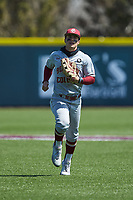 Boston College Eagles center fielder Sal Frelick (11) jogs off the field between innings of the game against the Virginia Tech Hokies at English Field on April 3, 2021 in Blacksburg, Virginia. (Brian Westerholt/Four Seam Images)