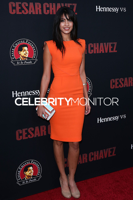 """HOLLYWOOD, LOS ANGELES, CA, USA - MARCH 20: Stephanie Sigman at the Los Angeles Premiere Of Pantelion Films And Participant Media's """"Cesar Chavez"""" held at TCL Chinese Theatre on March 20, 2014 in Hollywood, Los Angeles, California, United States. (Photo by David Acosta/Celebrity Monitor)"""