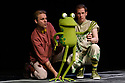 """London, UK. 05.12.2019. Kenny Wax Family Entertainment presents """"Oi Frog & Friends!"""" at the Lyric Theatre, Shaftesbury Avenue, from 29th November 2019 to 5th January 2020. Based on the books by Kes Gray & Jim Field, it is created for the stage by director, Emma Earle and desinger Zoe Squire (co-artistic directors of Pins and Needles Productions), with puppet design by Yvonne Stone and lighting design by Ric Mountjoy. The cast is: John Winchester (Frog), Lucy Tuck (Cat), Darren Seed (Dog) and Simon Yadoo (Gnu). Photograph © Jane Hobson."""