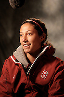 COLLEGE STATION, TX - DECEMBER 3:  Christen Press of the Stanford Cardinal during Stanford's trip to the NCAA Women's Soccer Championships on December 3, 2009 in College Station, Texas.