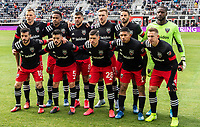 WASHINGTON, DC - FEBRUARY 29: D.C United starting eleven during a game between Colorado Rapids and D.C. United at Audi Field on February 29, 2020 in Washington, DC.