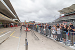 Fans look for their favorite drivers before this weekends Formula 1 United States Grand Prix race at the Circuit of the Americas race track in Austin,Texas.
