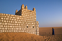 Islamic architecture in the Sahara Desert town of Boujbeja. /Felix Features