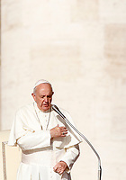 Pope Francis attends his weekly general audience in St. Peter's Square at the Vatican City, October 16, 2019.UPDATE IMAGES PRESS/Riccardo De Luca<br /> <br /> STRICTLY ONLY FOR EDITORIAL USE