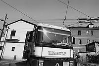 - Milan outskirtses, truck in Bovisa area....- periferie di Milano, autocarro in zona Bovisa