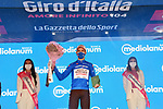 Geoffrey Bouchard (FRA) AG2R Citroen Team takes over the mountains Maglia Azzurra at the end of Stage 9 of the 2021 Giro d'Italia, running 158km from Castel di Sangro to Campo Felice (Rocca di Cambio), Italy. 16th May 2021.  <br /> Picture: LaPresse/Gian Mattia D'Alberto | Cyclefile<br /> <br /> All photos usage must carry mandatory copyright credit (© Cyclefile | LaPresse/Gian Mattia D'Alberto)