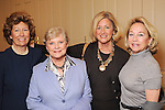 From left: Nancy Epley, Tami Dyer, Charlotte Crawford and Gail Stillwell at the 15th Annual Celebration of Families Luncheon benefitting Family Services of Greater Houston at the River Oaks Country Club Tuesday Feb. 02,2010. (Dave Rossman Photo)