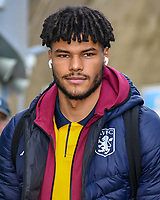 Tyrone Mings of Aston Villa (40) arriving at the Premier League match between Brighton and Hove Albion and Aston Villa at the American Express Community Stadium, Brighton and Hove, England on 18 January 2020. Photo by Edward Thomas / PRiME Media Images.