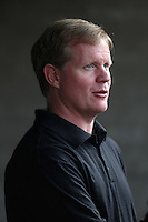 Pittsburgh Pirates general manager Neal Huntington before a game against the Los Angeles Dodgers at Dodger Stadium on September 16, 2011 in Los Angeles,California. Los Angeles defeated Pittsburgh 7-2.(Larry Goren/Four Seam Images)
