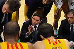 League ENDESA 2015-2016-Game: 23.<br /> FIATC Joventut vs FC Barcelona Lassa: 59-85.<br /> Xavi Pascual.