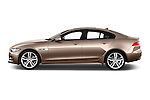 Car Driver side profile view of a 2015 Jaguar XE R-Sport 4 Door Sedan Side View