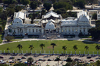 The Haitian national palace shows heavy damage after an earthquake measuring 7 plus on the Richter scale rocked Port au Prince Haiti just before 5 pm yesterday, January 12, 2009.