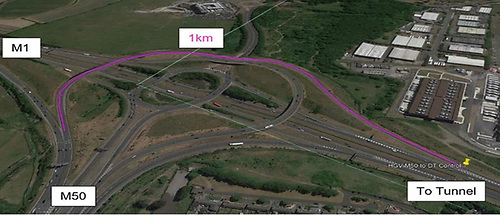 Queue Management on M50 Northbound approach to M1/M50 Junction