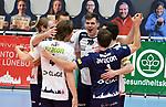 21.11.2020, GER, VBL, SVG Lueneburg vs SWD Powervolleys Dueren, im Bild die Lueneburger Mannschaft jubelt/Foto © nordphoto/ Witke