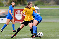 Helena Errington of Capital competes for the ball with Toni Power of Southern during the Handa Women's Premiership - Capital Football v Southern United at Petone Memorial Park, Wellington on Saturday 7 November 2020.<br /> Copyright photo: Masanori Udagawa /  www.photosport.nz