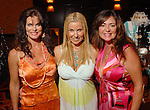 Kelly Anzilotti, Natalie Wall and Monica Heins at the Citizens for Animal Protection owner/pet fashion show at the Hilton Americas Houston Saturday June 06,2009.(Dave Rossman/For the Chronicle)
