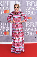 Tallia Storm<br /> arriving for the BRIT Awards 2019 at the O2 Arena, London<br /> <br /> ©Ash Knotek  D3482  20/02/2019<br /> <br /> *images for editorial use only*