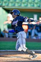 Yan Sanchez (22) of the Missoula Osprey at bat against the Ogden Raptors in Pioneer League action at Lindquist Field on July 13, 2016 in Ogden, Utah. Ogden defeated Missoula 8-2. (Stephen Smith/Four Seam Images)