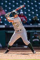 Baylor Bears pinch hitter Mitch Price (30) at bat during Houston College Classic against the Hawaii Rainbow Warriors on March 6, 2015 at Minute Maid Park in Houston, Texas. Hawaii defeated Baylor 2-1. (Andrew Woolley/Four Seam Images)