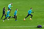22.11.2020, Trainingsgelaende am wohninvest WESERSTADION,, Bremen, GER, 1.FBL, Werder Bremen Training, im Bild<br /> <br /> <br /> <br /> Günther / Guenther Stoxreiter (Athletik-Trainer Werder Bremen), Yuya Osako (SV Werder Bremen #8), Nick Woltemade (SV Werder Bremen #41), Niklas Moisander (SV Werder Bremen #18) und Davie Selke (SV Werder Bremen #9) - Srint<br /> <br /> Foto © nordphoto / Gumz