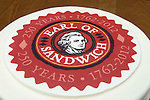 Earl of Sandwitch 250 years 1762- 2012 cake with business logo.