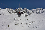 Riffel 2 Chairlift on Rendl Ski Area at St Anton, Austria,