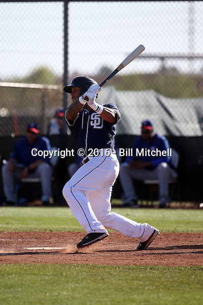 Marcus Greene - San Diego Padres 2016 spring training (Bill Mitchell)