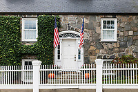 Charming home exterior, Stonington, Rhode Island, USA.
