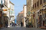 Italy, Calabria, beach resort Protea: old town lane