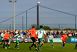Players wait for a high ball to drop. Vanarama National League North, Promotion Final, North Ferriby United v AFC Fylde, 14th May 2016.