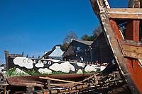 Europe/France/Bretagne/29/Finistère/Douarnenez: Chantier naval réparant les vieux gréements au Port-musée de Douarnenez,au Port-Rhu sur l'ancienne ria de Pouldavid qui sépare Douarnenez et le quartier de Tréboul. I
