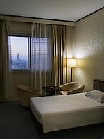 Zimmer im Yanggakdo-Hotel, Pyongyang, Nordkorea, Asien<br /> room in Yanggakdo-Hotel, Pyonyang, North Korea, Asia