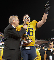 Zack Follet, defensive MVP, .2008 Emerald Bowl, San Francisco, Calif., Saturday, Dec. 27, 2008. University of California 24, University of Miami, 17.