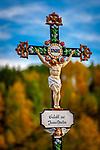 Deutschland, Bayern, Niederbayern, Naturpark Bayerischer Wald, Kruzifix | Germany, Bavaria, Lower-Bavaria, Nature Park Bavarian Forest, crucifix