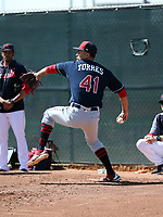 Lenny Torres Jr - Cleveland Indians 2019 spring training (Bill Mitchell)