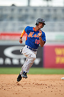 MJ Melendez (19) of St. James School in Montgomery, Alabama playing for the New York Mets scout team during the East Coast Pro Showcase on July 28, 2015 at George M. Steinbrenner Field in Tampa, Florida.  (Mike Janes/Four Seam Images)